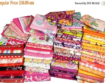 SALE 10% Off - 3 Yard Quilting Scrap Bag by Weight - Bolt Ends - Fat Quarters FQ - Scrappy Quilt - 1 Pound of Fabric Scraps