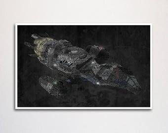 "Firefly word art print - 11x17"""