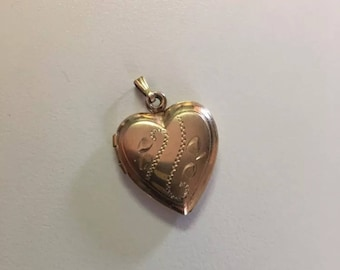 12K Gold Filled Heart Locket