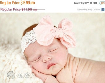 10% SALE Baby headband, newborn headband, adult headband, child headband and photography prop The single sprinkled sparkle BOW headband