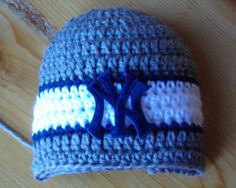 Yankees Baby hat for Newborn to 18 months - New York team colors