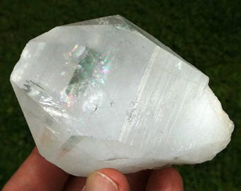 Himalayan Quartz crystal - Tabby with Rainbow inclusions, high vibration crystal, crystal healing