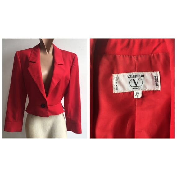 1990s Cropped Red Valentino Jacket, size small