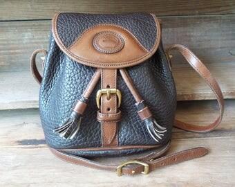 Vintage DOONEY and BURKE Purse, RARE Mini Sherpa Style Drawstring Handbag, Crossbody, Dooney and Bourke Drawstring and Flap