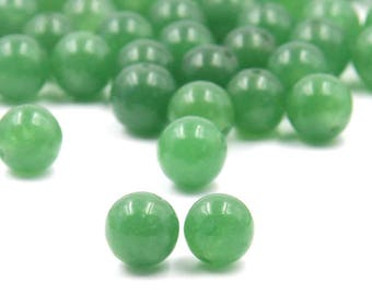 8mm 180Pcs Green Aventurine Gem Beads Loose Finding For Handwork-- ja2017