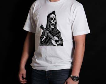 Day of the Dead Calavera Con Guitara T-Shirt