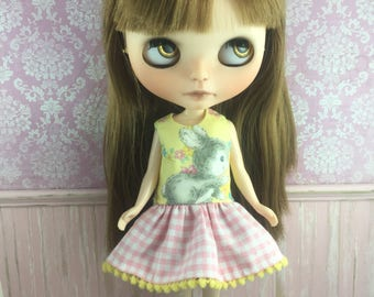 Blythe Drop Waist Dress - Bunny