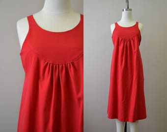 1980s Red Maternity Sundress