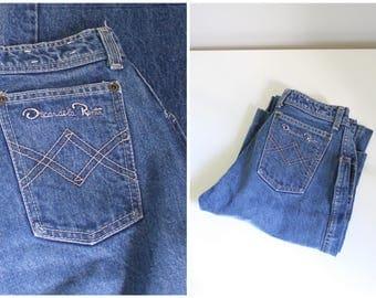vintage 80s high waisted jeans - vintage denim / Oscar de la Renta jeans - ladies straight leg jeans / 70s high waist jeans - 80s jeans