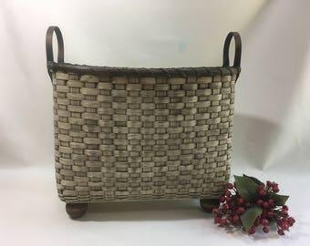 Blanket Basket/Quilt Basket/Storage Basket-Primitive Style