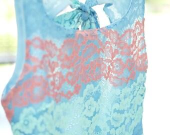Alice cut off back dress blue lace dress blue party dress lace bridesmaid dress blue dress lace prom dress cocktail dress blue sundress