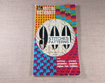 Mon Tricot Knitting Dictionary 900 Stitches Patterns Knitting Crochet Patchwork Jacquard Afghan Fork Technics Book