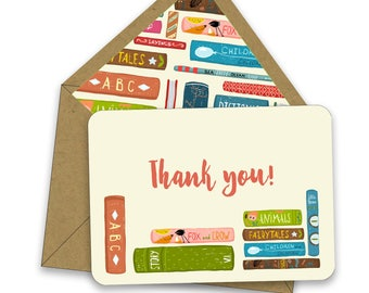 BOX OF 12 Little Library Thank You Notes