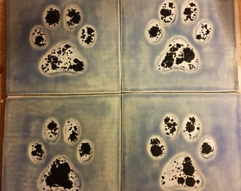 Dog Paw Tile