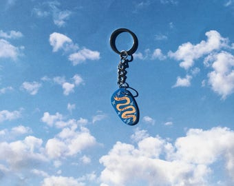 Please Stay Strong 〰 Lightweight Shrink Film Keychain 〰 Polymer Plastic Positive Message Banner Keychain