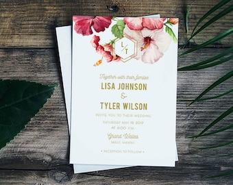 destination wedding invitation, Mexico Wedding Invitations, luau invitations, Hawaiian Invitations, Tropical Wedding Invitations, Beach