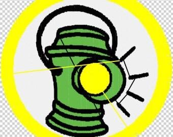 Green Lantern - Alan Scott .pes file digital download