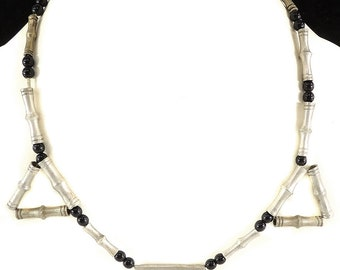 Tuareg Necklace Silver Pendant Beads Africa Old 111236