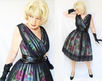 Marilyn Monroe Dress is a Chiffon Cupcake Formal Big Skirt Dress with Black Chiffon Overlay, Big Bust Small Waist Wedding Guest Dress