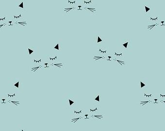 Organic Jersey Cats Fabric