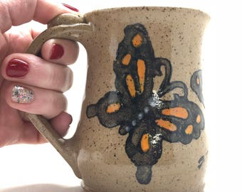 Butterfly Mug, Ready To Ship