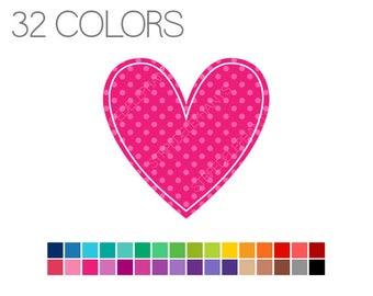 Heart Clip Art - Clip Art Basics Polka Dot Hearts - Instant Download - Commercial Use - Heart Polka Dot V2