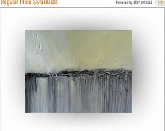 """ON SALE Skye Taylor Modern Abstract Original Painting Art Yellow and Gray Pallette Knife  Painting Canvas  -""""New Day Awakening"""" - 18 x 24"""