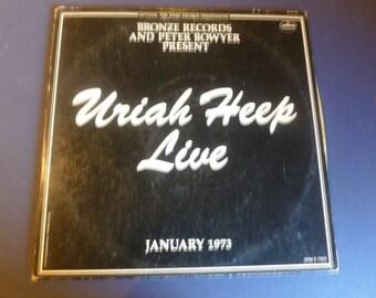 Uriah Heep Live Vinyl Record LP SRM-2-7503 (2) Record Set Mercury Records 1973