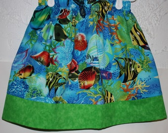 Little Girls  Skirt  With Fish     Size 2 to 8