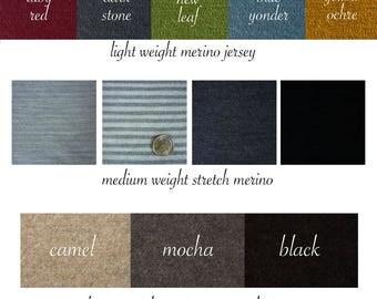 Organic Merino Wool Fabric Yardage Sweater Knit Skirts Dresses Pants Wool Leggings New Zealand Merino Naturally Dyed Wool Jersey