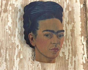 Frida portrait pin