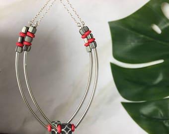 African tribal  earrings - african earrings - beaded hoops - ethnic jewelry - african jewelry - tribal jewelry - african earrings - jewelry