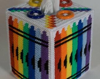 Crayon Tissue Box Cover