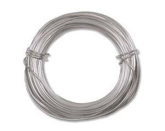 18 gauge aluminum wire, silver colored wire for wire wrapping, jewelry wire, silver aluminum wire