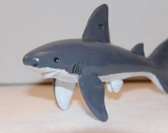 Great White Shark Figure/Ornament, 100% Handmade
