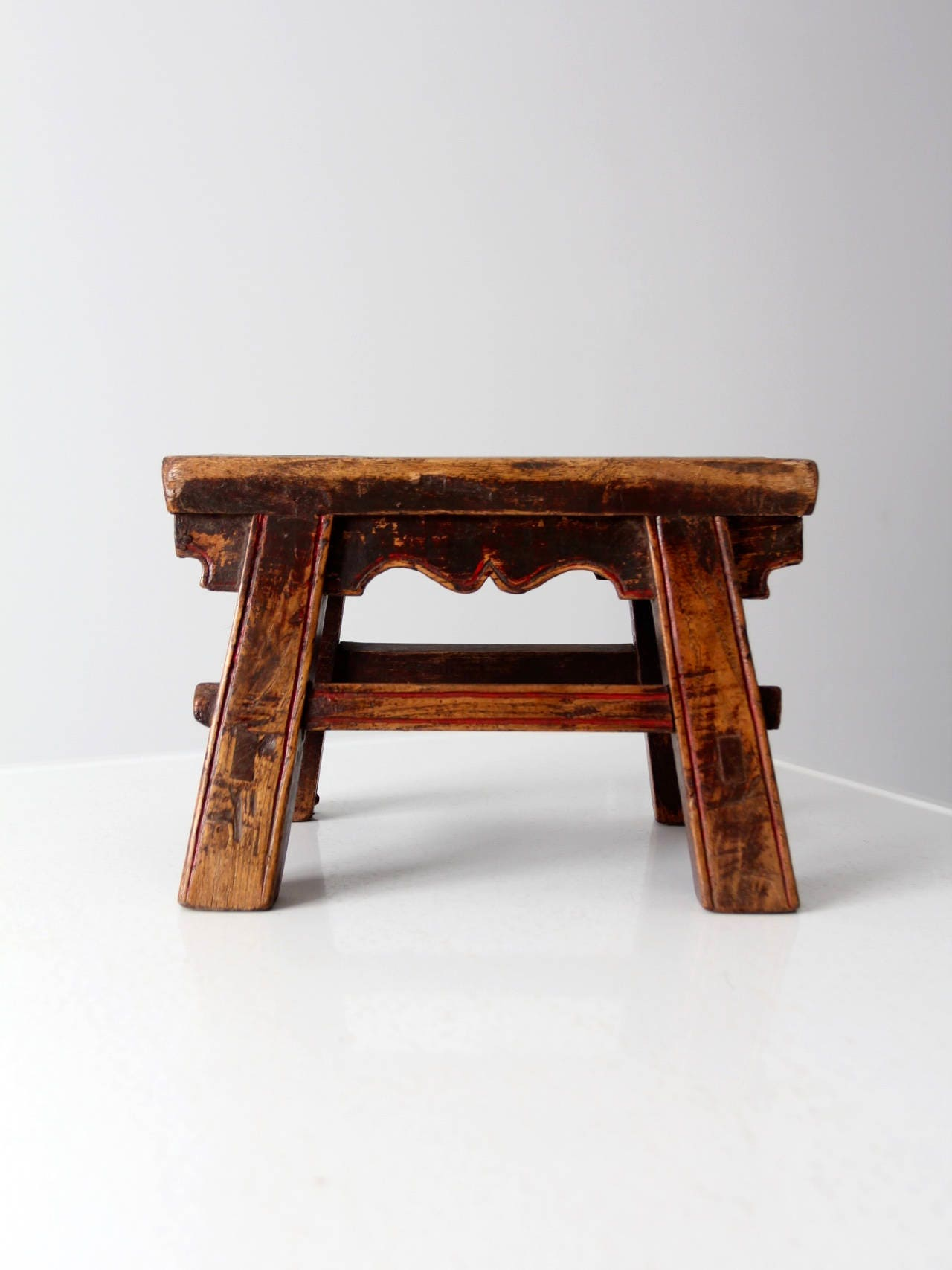Antique Chinese Stool Small Wooden Riser
