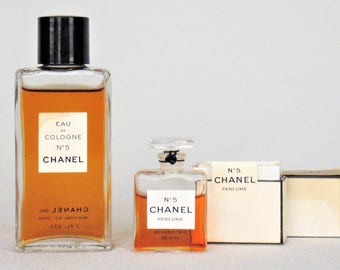 2 Wonderful Chanel #5 Products 2 Ounce Bottle Of Eau De Cologne 90% Full And 1/4 Ounce Perfume In Original Box About 3/4 Full