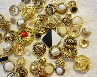 55 ornate Button Lot,55 Beautiful buttons