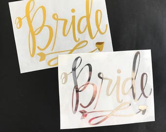 Bride heat transfer IRON on stencils for wedding Bridal bachelorette party
