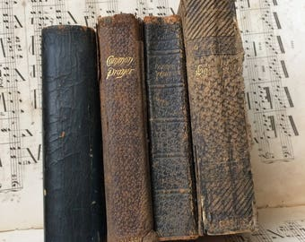 A Stack Of Treasured Antique 1800s Prayer Books