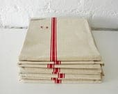 Vintage French Torchon - French Tea Towel - Linen Kitchen Towel
