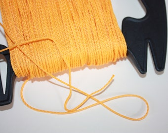 1.5 mm BRAIDED YELLOW Cord = 1 Spool = 110 Yards = 100 Meters of Elegant Polypropylene Rope for Macrame, Sewing, Crocheting, Knitting