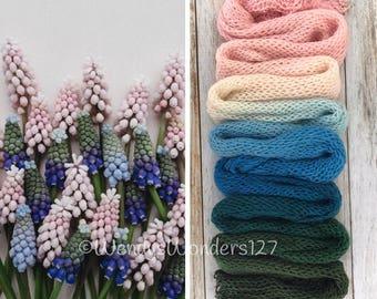 Gradient Yarn, Hand Dyed Yarn, Yarn, Fingering Weight Yarn, Blue Bells