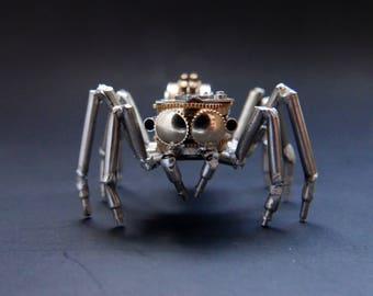 Jumping Spider Sculpture No 1 Recycled Watch Parts Clockwork Arachnid Figurine Stems Electrical Wire Arthropod A Mechanical Mind Gershenson