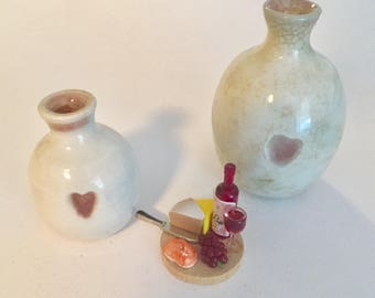 Summer Lovin Miniature Heart Vases