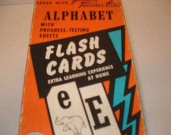 Vintage Alphabet Flash Cards