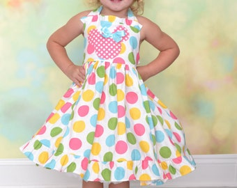 Size 4T Ready to Ship Minnie Mouse Polka Dot Party Dress