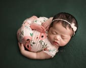 Newborn Long Leg Romper / Newborn Romper / Open Back Onesie