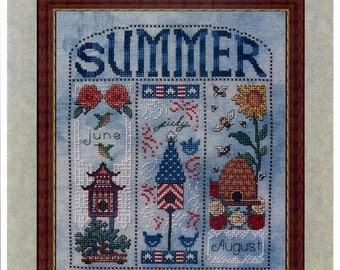 Whispered by the Wind: Summer Homes - Cross Stitch Pattern