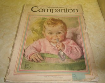 vintage magazine womans home companion april 1931 loose cover complete